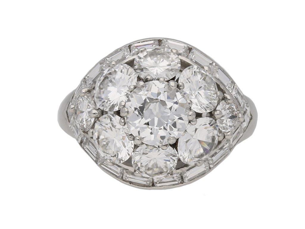 Van Cleef & Arpels Diamond bombe ring berganza hatton garden
