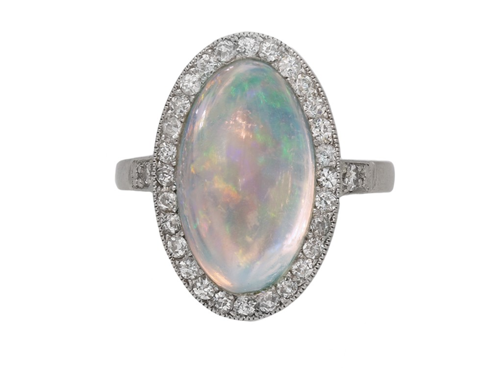 antique diamond opal ring berganza hatton garden