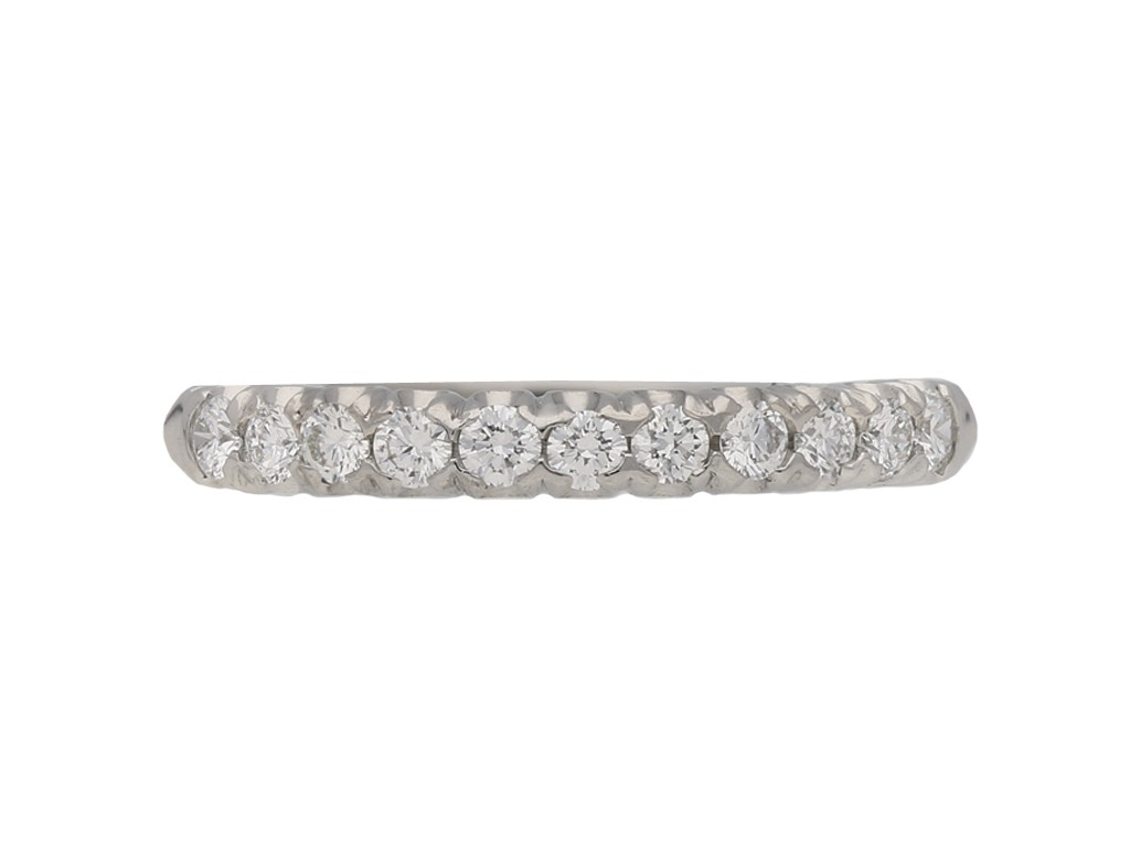 Oscar Heyman diamond fishtail guard ring