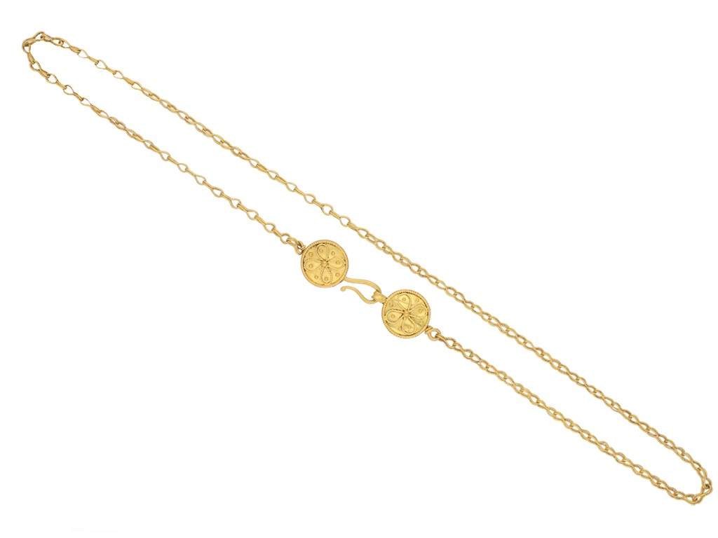 Ancient Roman yellow gold necklace berganza hatton garden