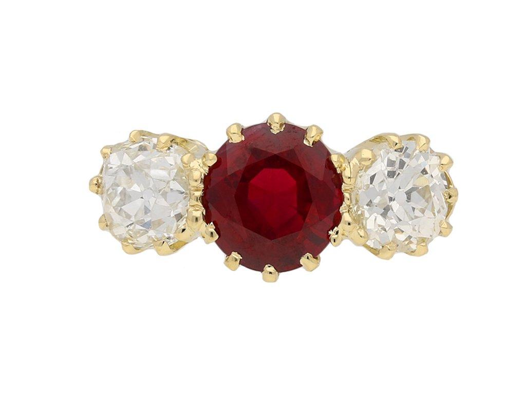 Burmese ruby diamond ring berganza hatton garden