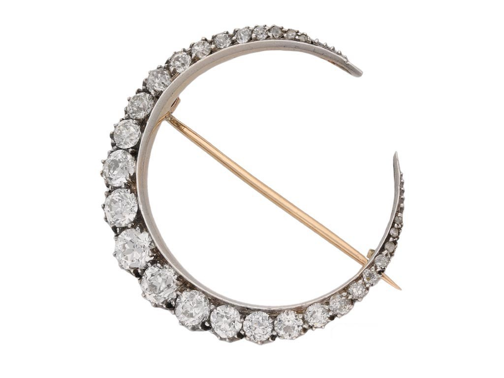 antique diamond crescent brooch berganza hatton garden