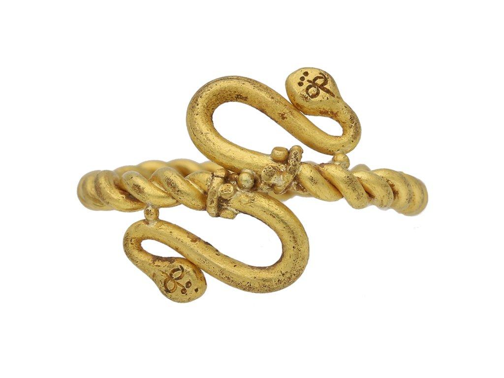 Egyptian snake gold ring berganza hatton garden