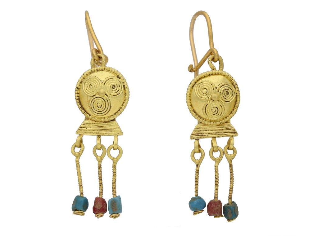 ancient roman gold bead earrings berganza hatton garden
