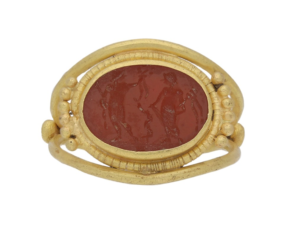 ancient roman gold intaglio ring hatton garden berganza