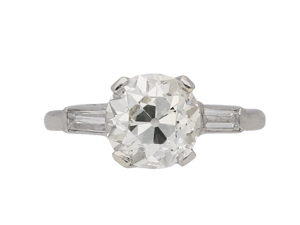 vintage engagement diamond ring berganza hatton garden