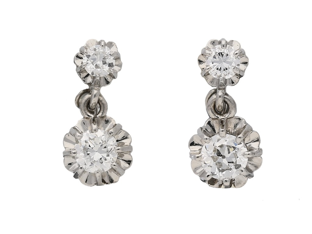 vintage diamond earrings hatton garden berganza