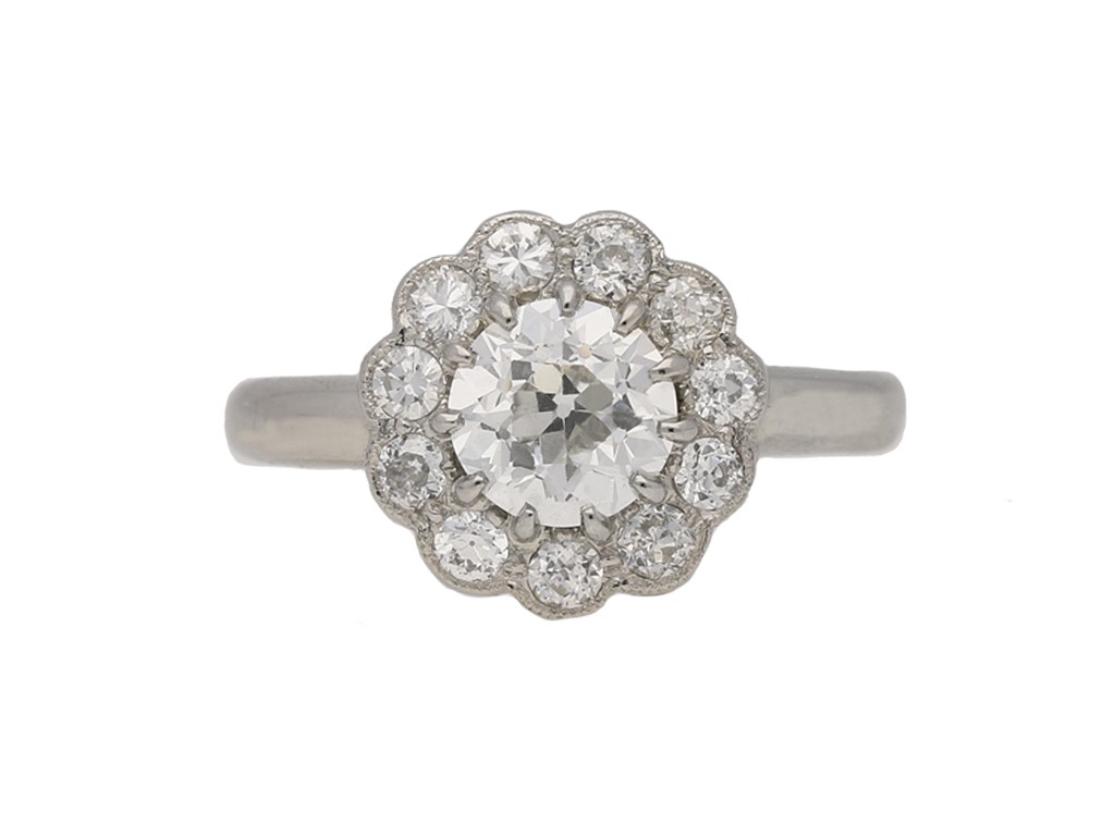 antique cluster diamond ring hatton garden berganza