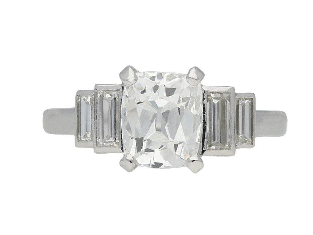 art deco diamond engagement berganza hatton garden