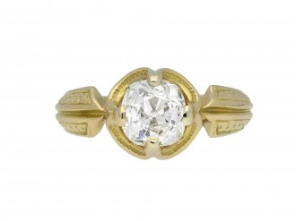 Victorian old mine diamond solitaire ring hatton garden