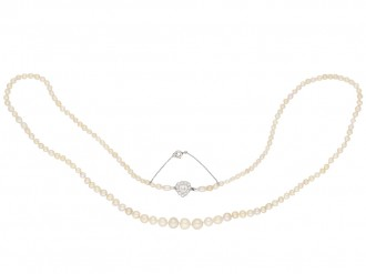 Belle Époque natural pearl diamond necklace berganza hatton garden