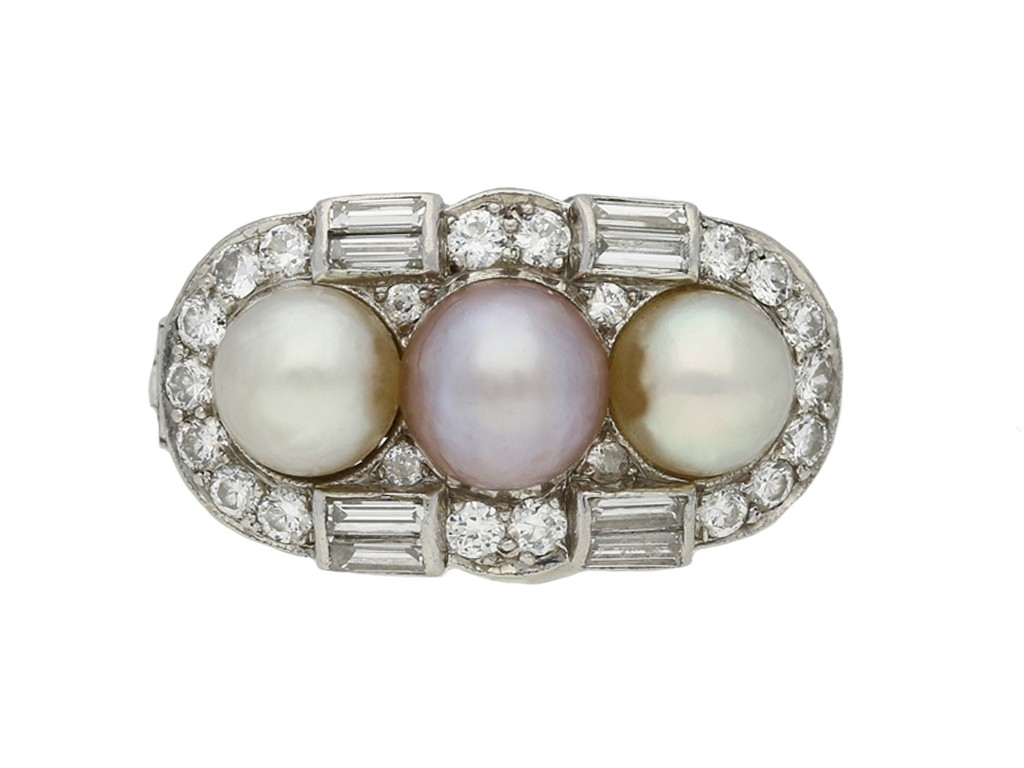 vintage pearl diamond ring berganza hatton garden