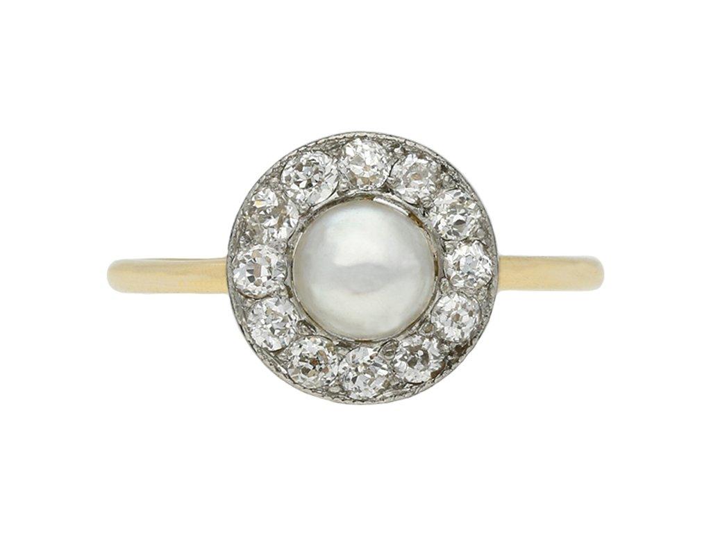 antique diamond natural pearl ring berganza hatton garden