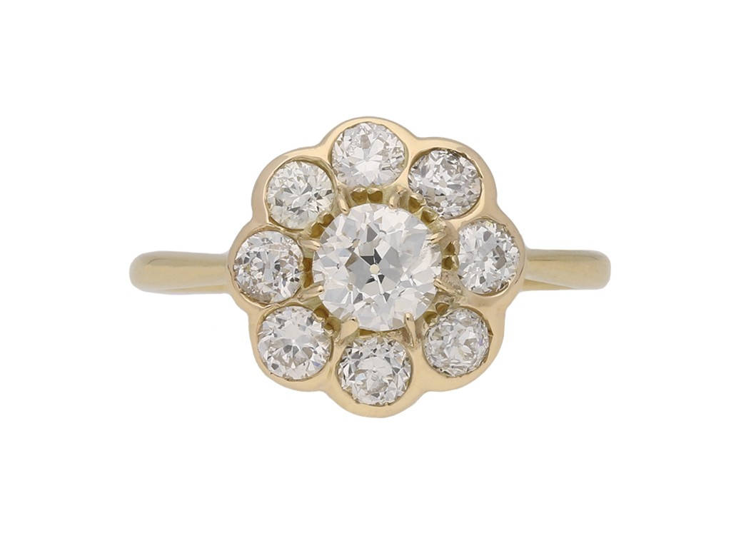antique diamond cluster ring berganza hatton garden