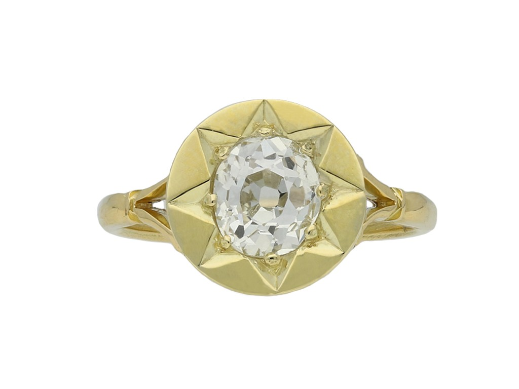antique diamond solitaire ring berganza hatton garden