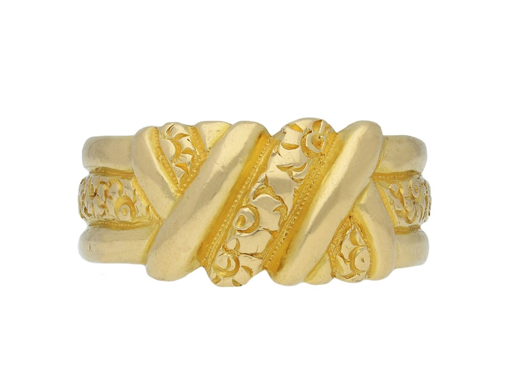 antique carved gold band ring berganza hatton garden