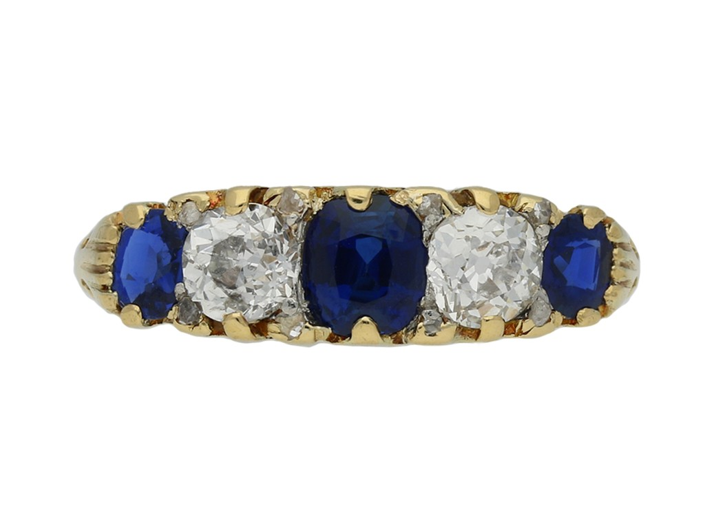 antique sapphire diamond carved ring berganza hatton garden