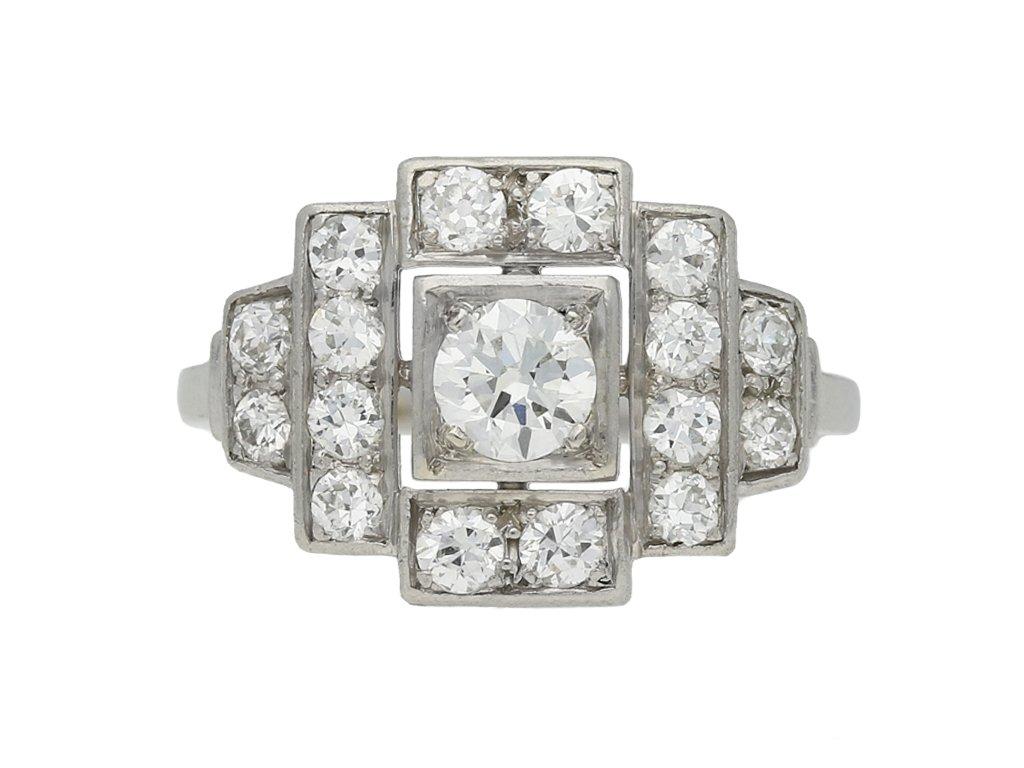 art deco cluster diamond ring hatton garden berganza
