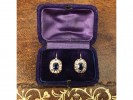 antique sapphire diamond earrings berganza hatton garden