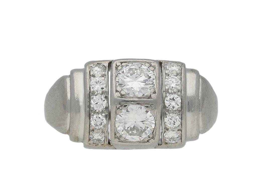 art deco diamond cocktail ring hatton garden berganza