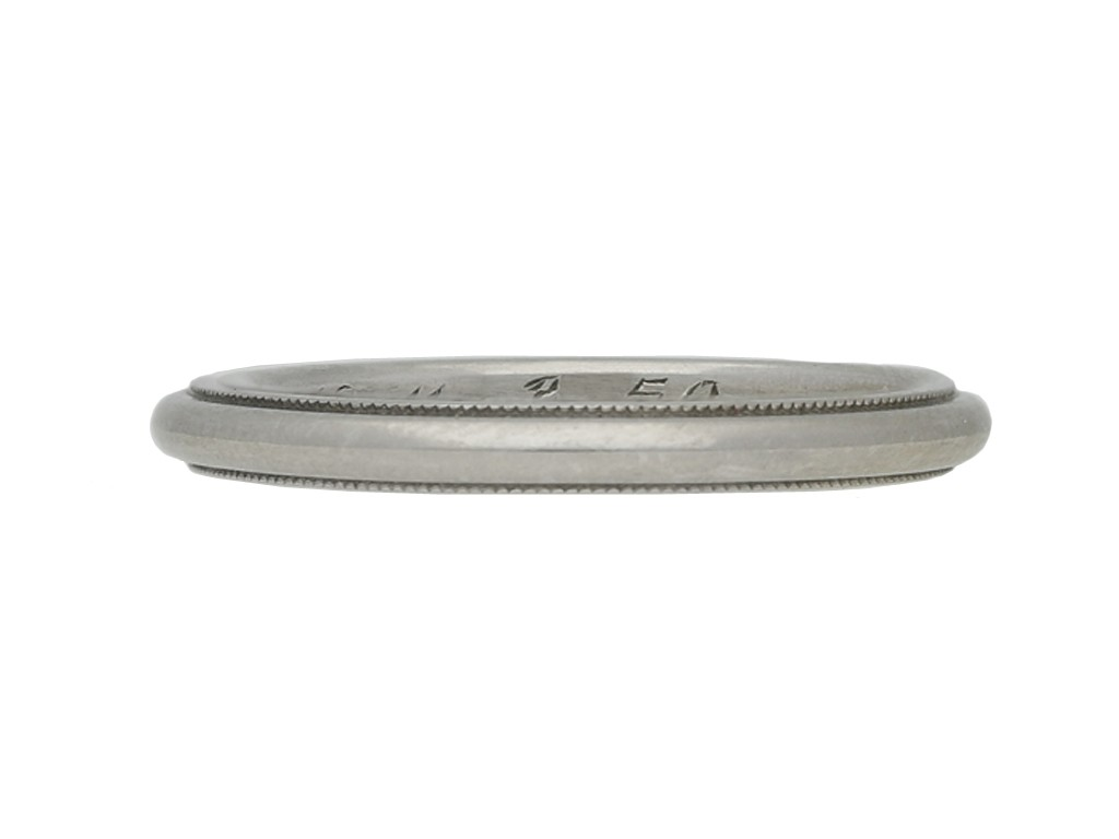 vintage platinum wedding ring hatton garden berganza
