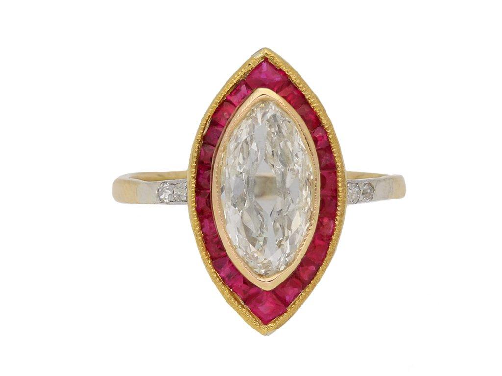 antique ruby diamond ring hatton garden berganza