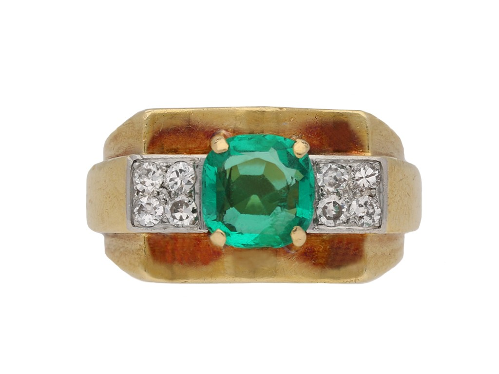 Chaumet emerald diamond ring berganza hatton garden