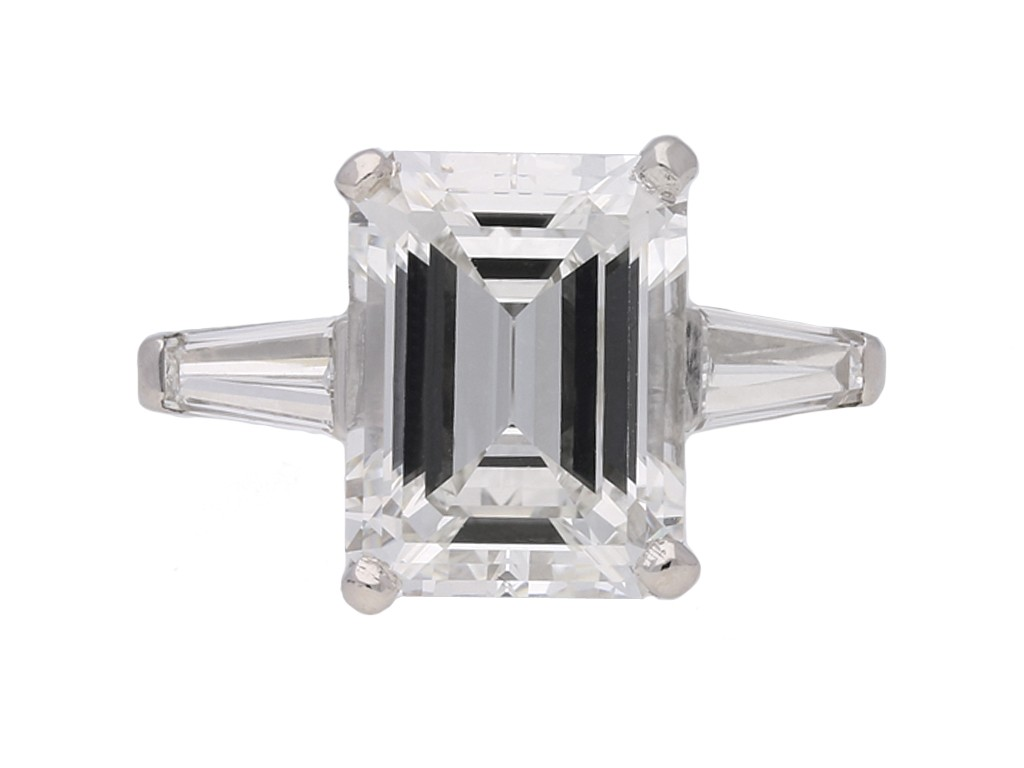 vintage emerld cut diamond ring berganza hatton garden