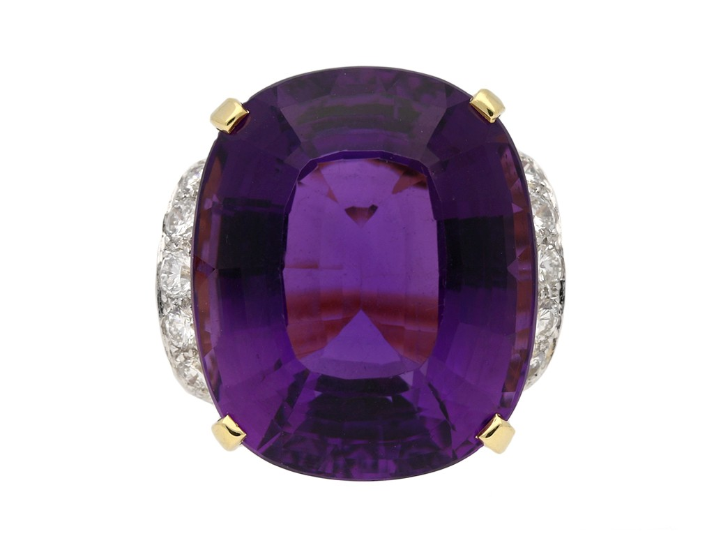 3deedaa78 Tiffany and Co. vintage amethyst and diamond cocktail ring, American, circa  1975.