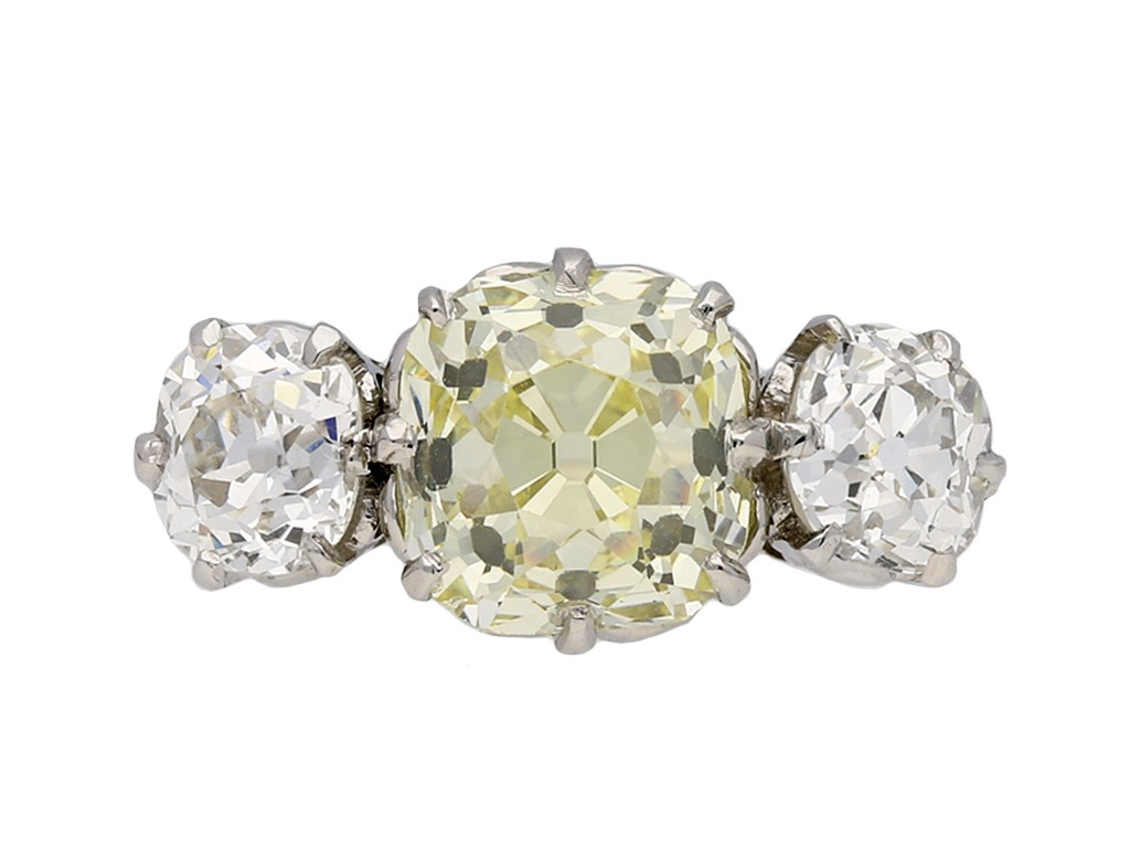 Edwardian diamond three stone ring berganza hatton garden
