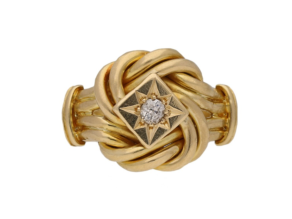antique gold diamond knot ring hatton garden berganza