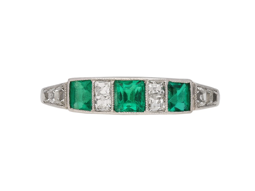 ront art deco diamond emerald ring berganza hatton garden
