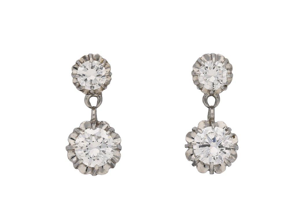 vintage diamond drop earrings hatton garden berganza