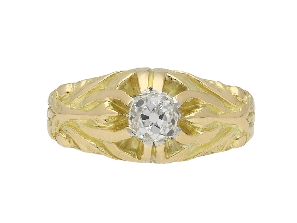 Art Nouveau diamond ring berganza hatton garden