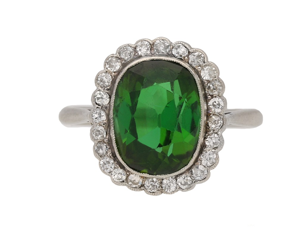 antique diamond tourmaline ring hatton garden berganza