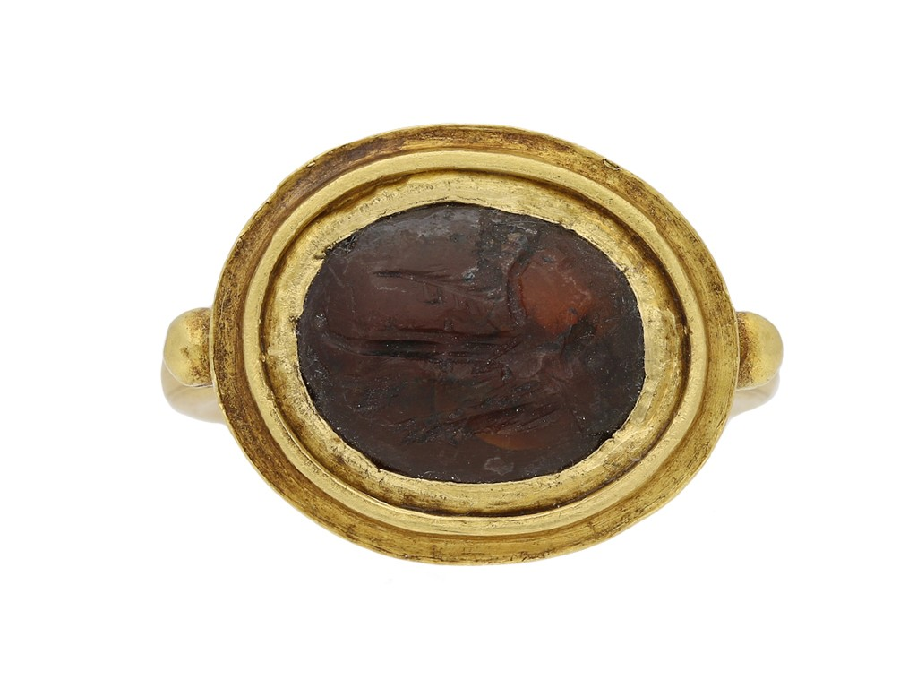 Ancient Roman Rings ancient roman intaglio victory ring, circa 1s | ref 23827