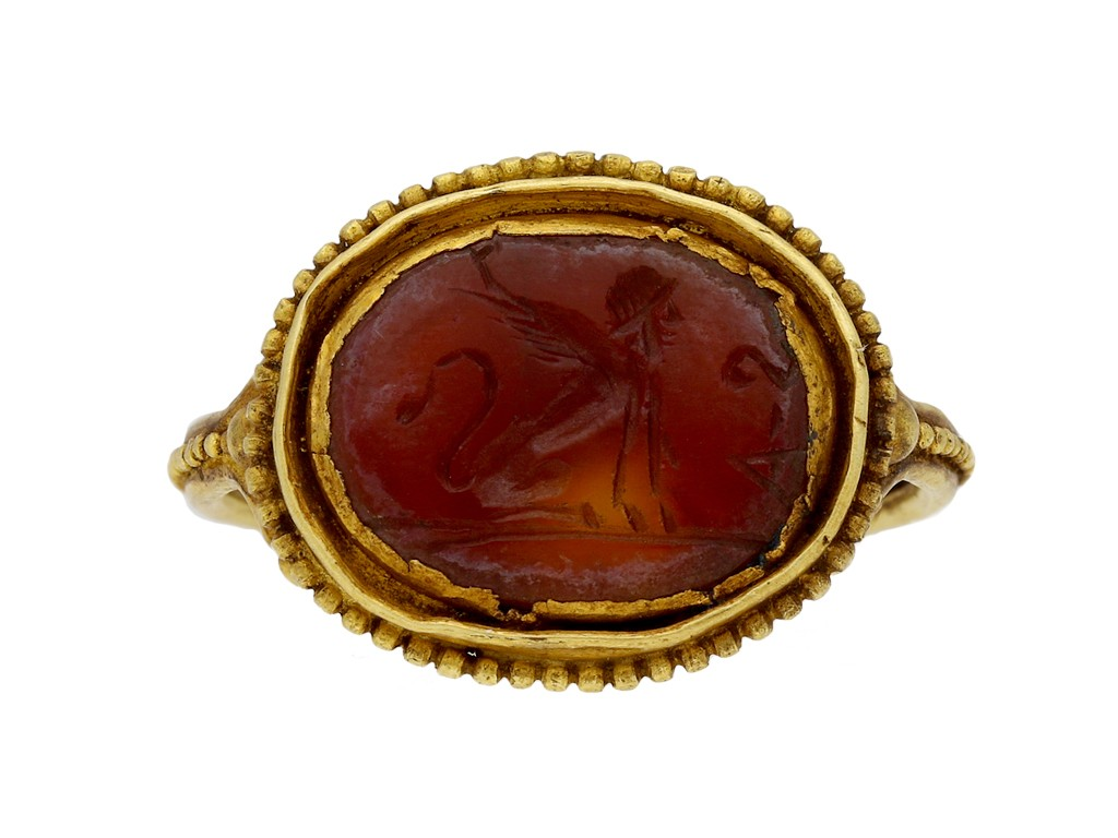 Ancient Roman Rings ancient roman sphinx intaglio ring, circa 1st | ref 23828