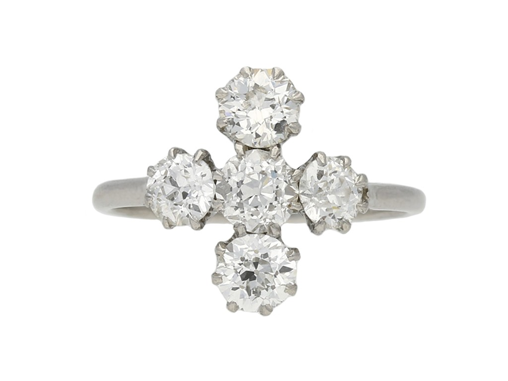 Diamond five stone ring berganza hatton garden