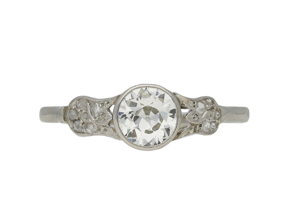 antique Old cut diamond engagement ring berganza hatton garden
