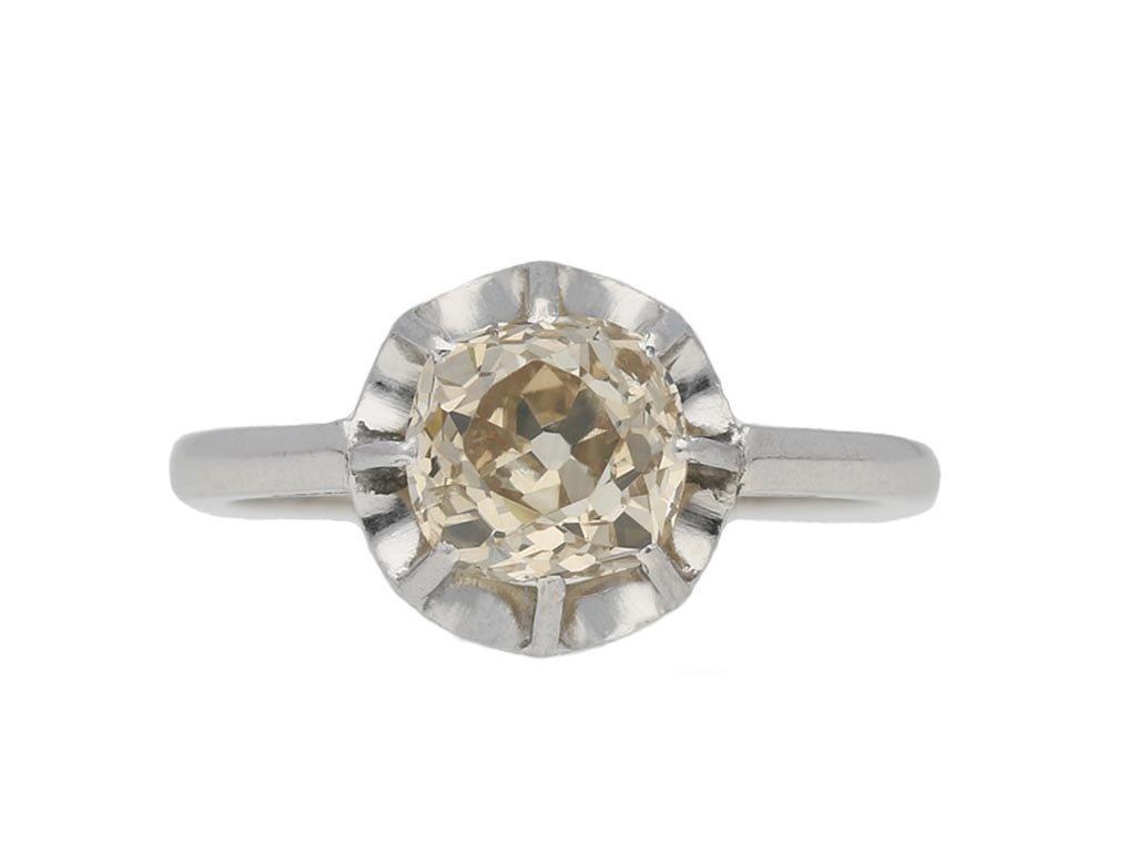 Belle Époque diamond solitaire ring berganza hatton garden