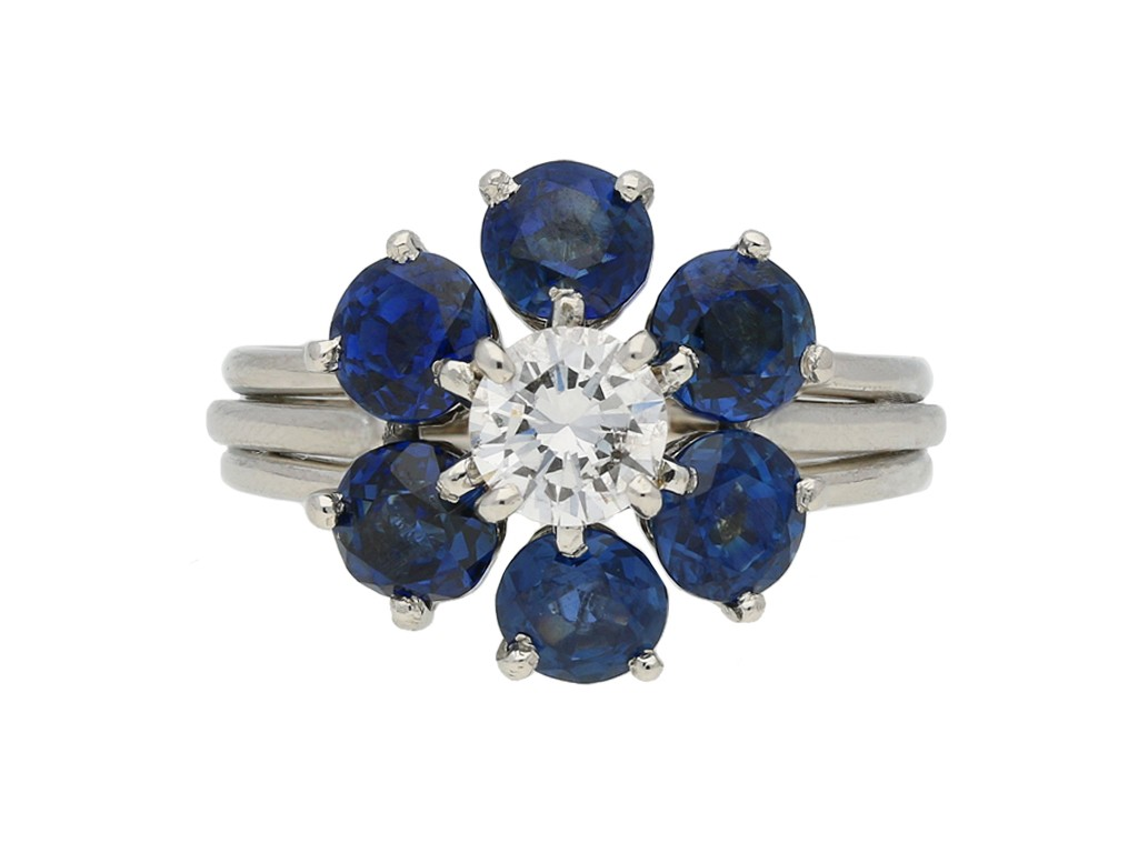 Cartier sapphire and diamond ring berganza hatton garden