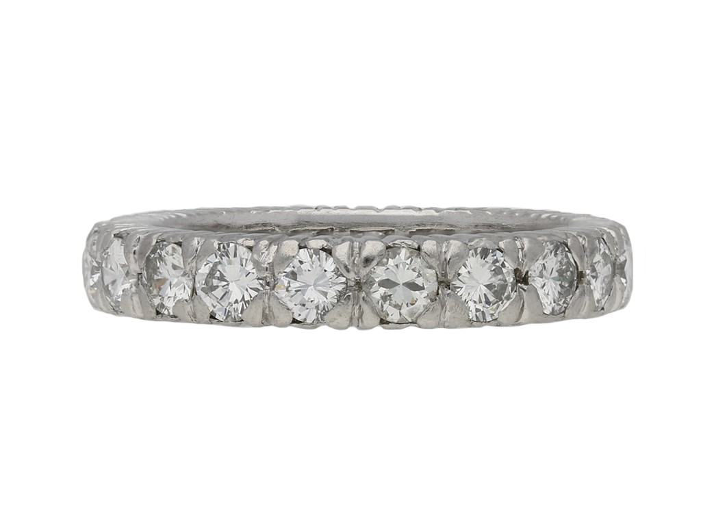 Vintage diamond eternity ring in platinum berganza hatton garden