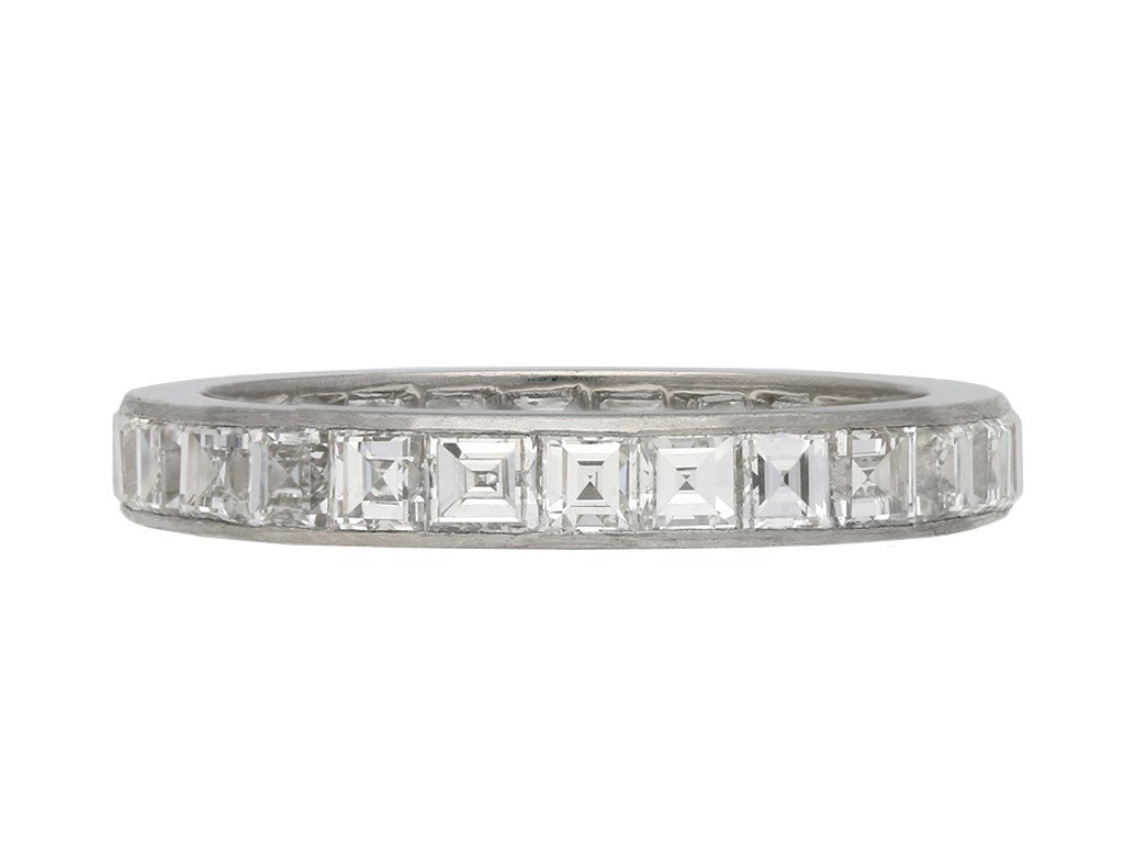 Art Deco diamond eternity ring berganza hatton garden