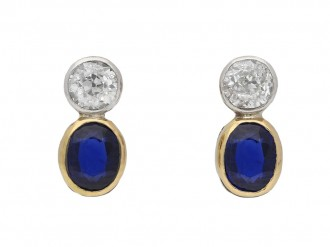 Edwardian sapphire and diamond earrings berganza hatton garden