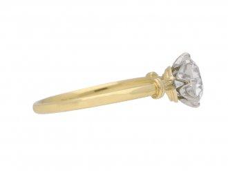 Edwardian diamond engagement ring berganza hatton garden