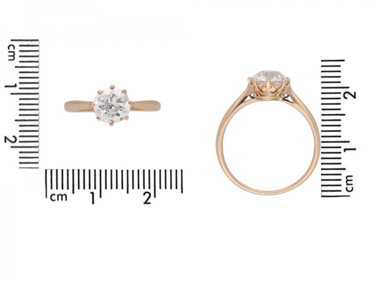 Antique solitaire diamond engagement ring berganza hatton garden