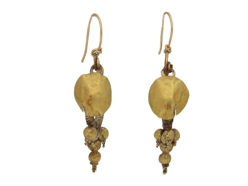 Ancient Greek Hellenistic earrings berganza hatton garden