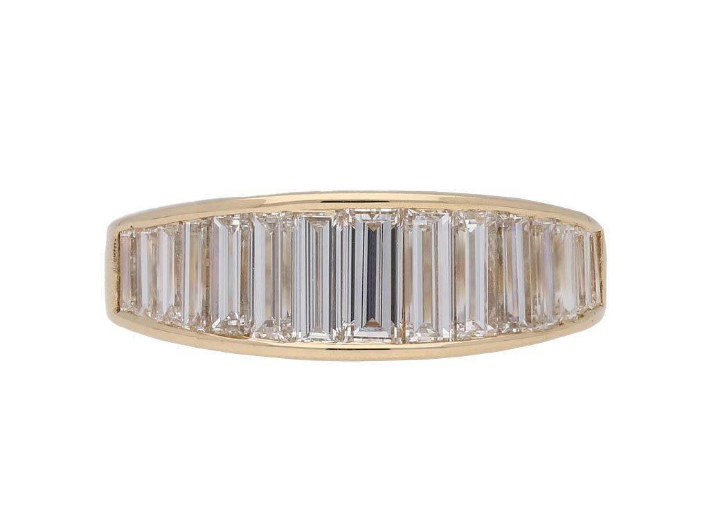 Oscar Heyman diamond half eternity ringberganza hatton garden