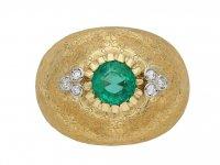 Emerald and diamond ring by Buccellati berganza hatton garden