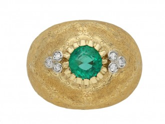 Emerald and diamond ring by Buccellati berganza hatton garden